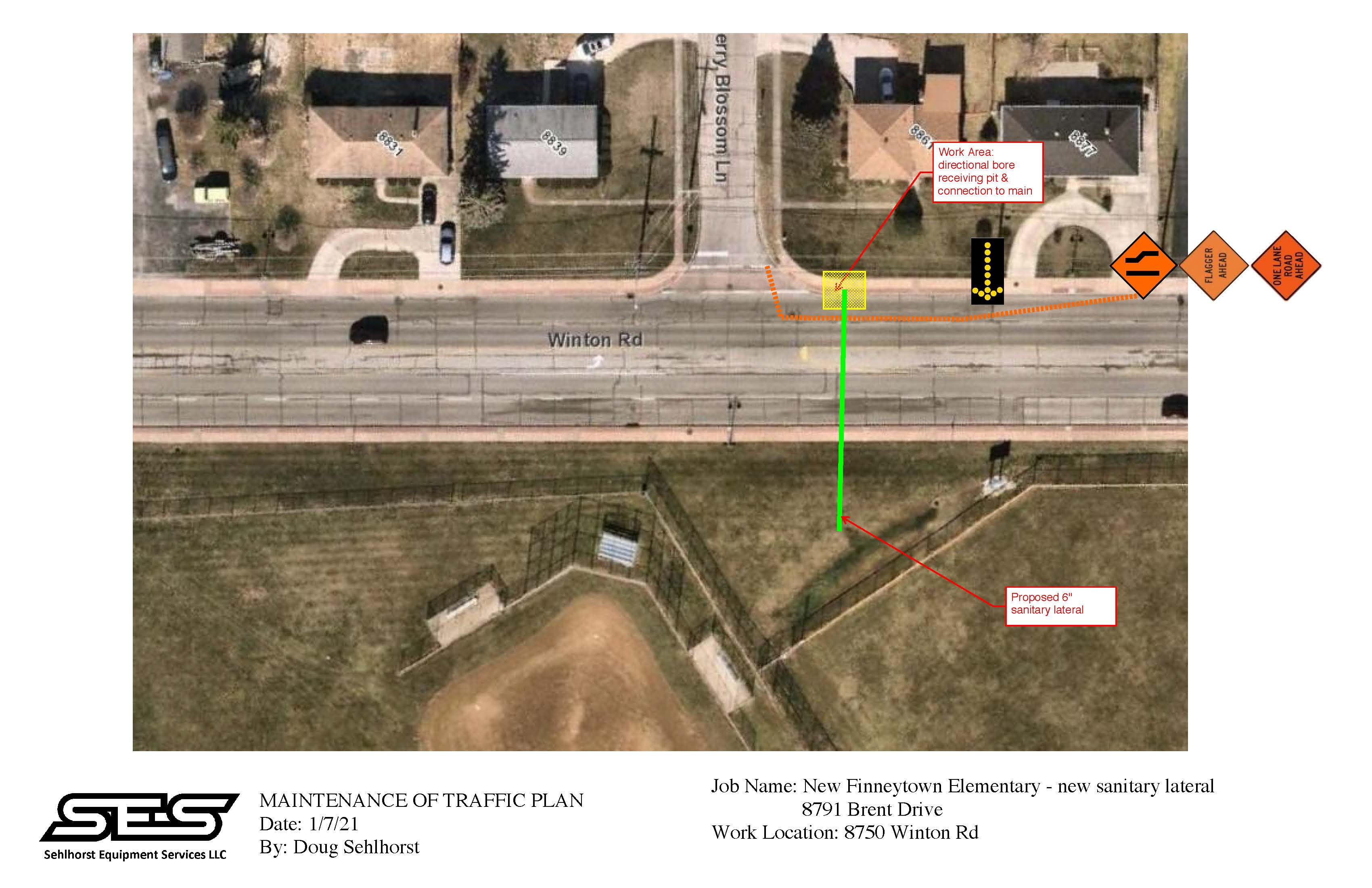 8750 Winton Rd Work Area MOT plan REVISED