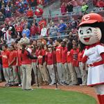 Winton Woods Choir at Reds Game